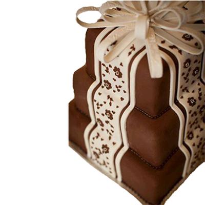 Chocolate Stairs Cake