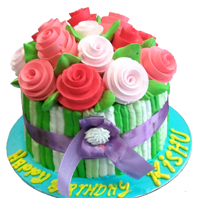 Rose Bouquet Cake