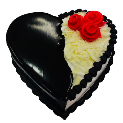 Black And White Heart Cake